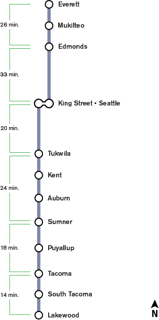 Light Rail Seattle Map Stops.Stations Sounder Train Stations Sound Transit