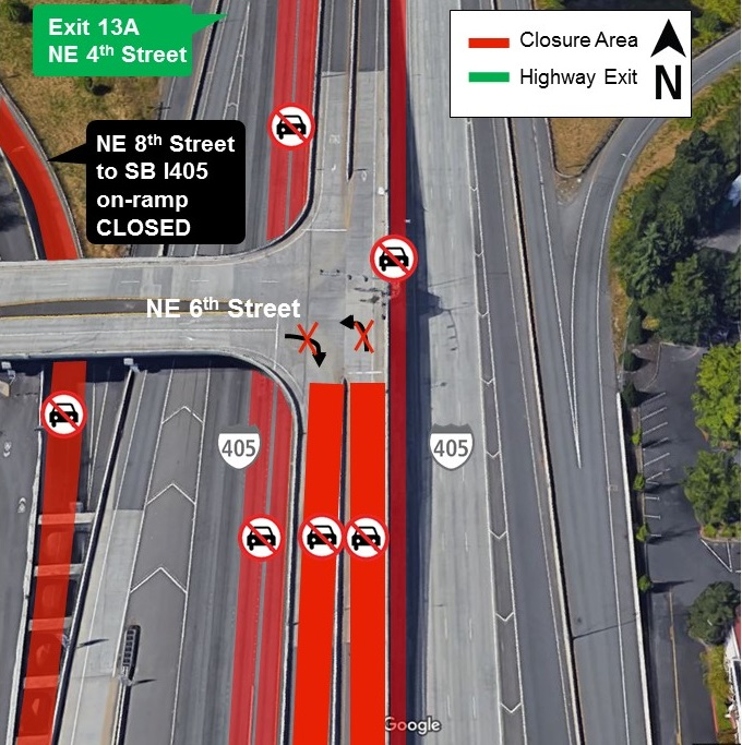 East link construction zone for construction alert