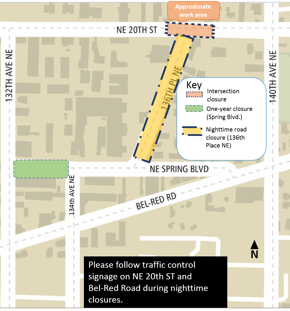 NE 20th  construction map