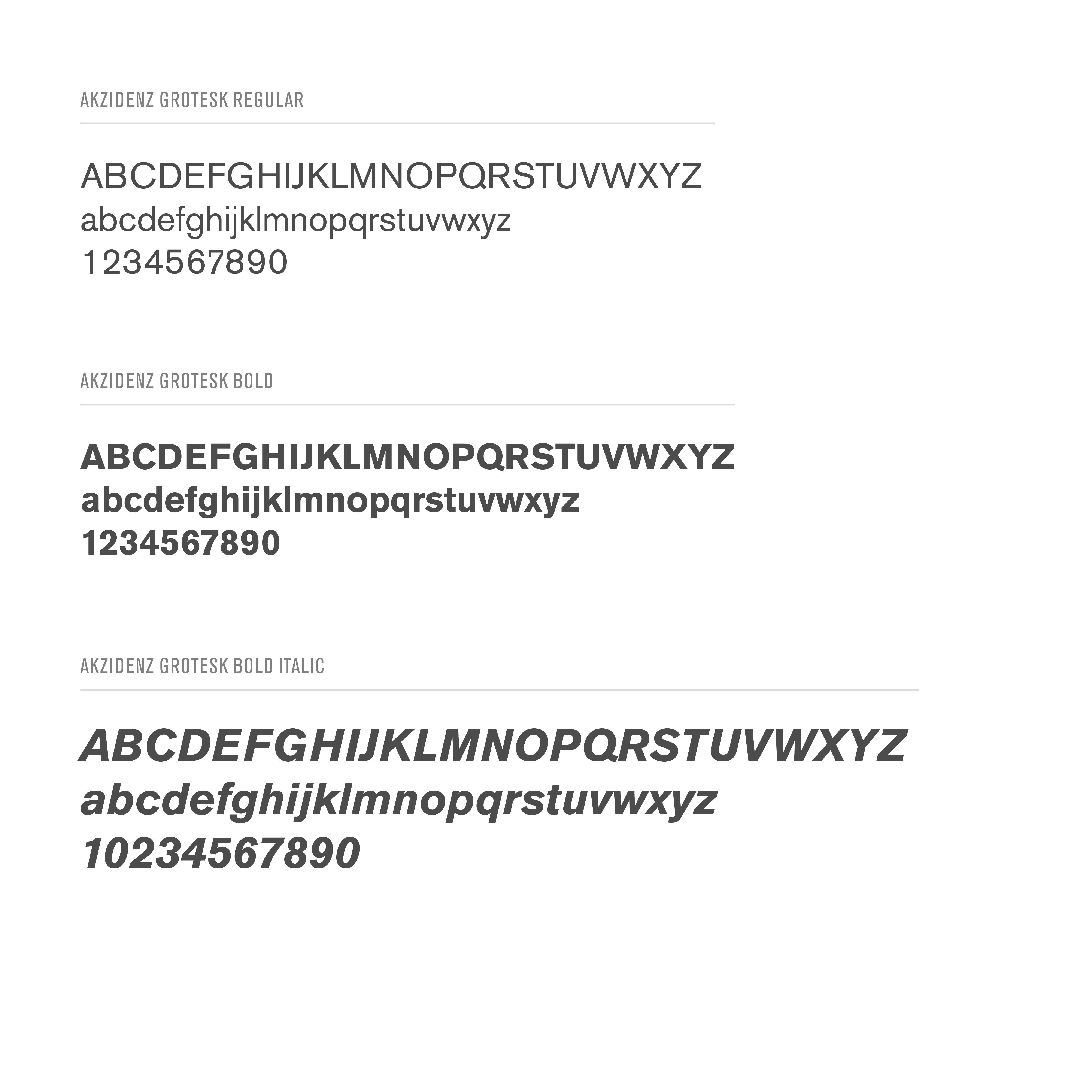 Preview of text in Akzidenz font.