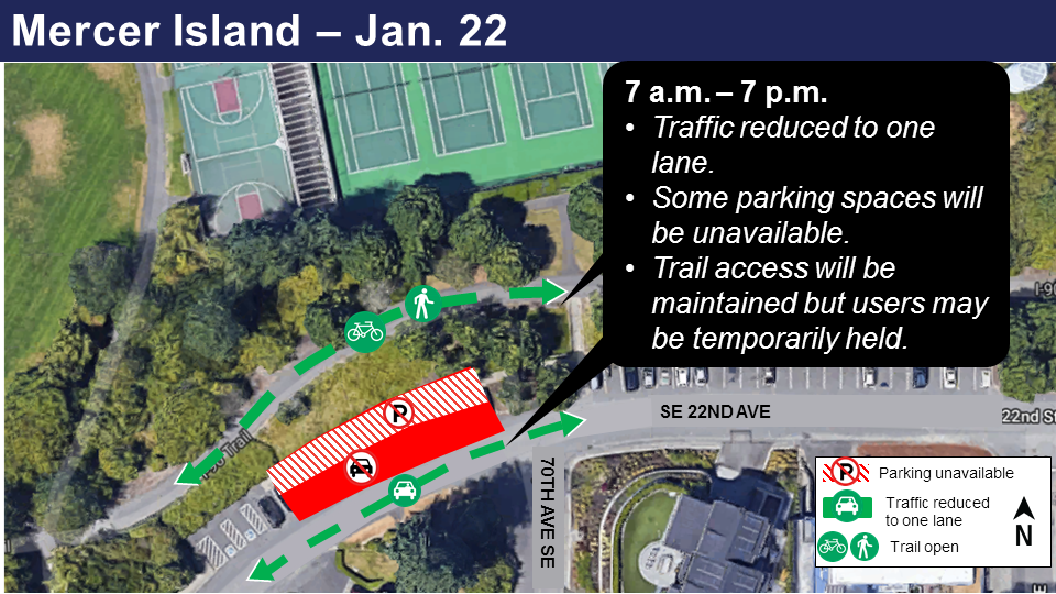 Map of construction in Audrey Davis Park January 2019