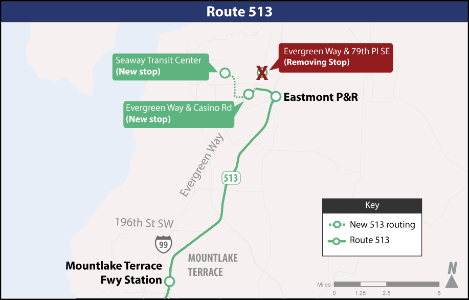 Map - 513 Route Changes SIP 2019