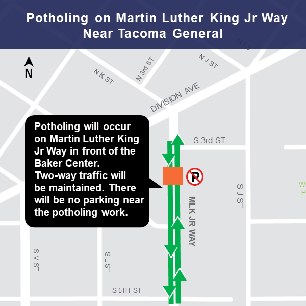Martin Luther King Jr. Way at Division Avenue map