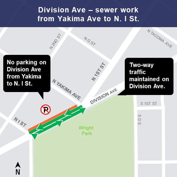 Map of Division Ave sewer work area