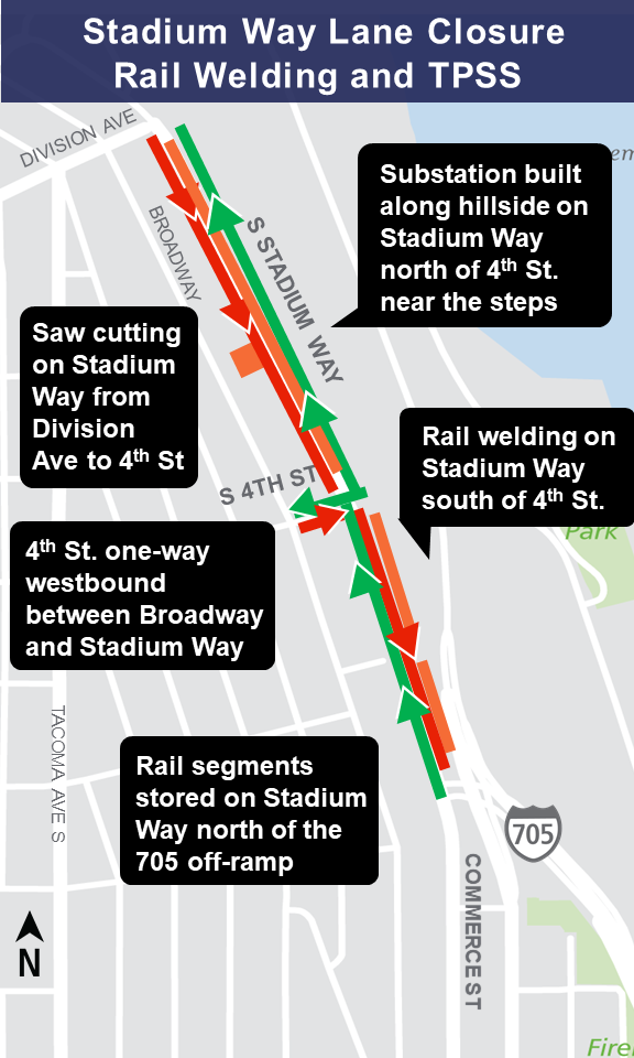 Stadium Way traffic impact map