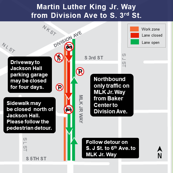 MLK from Division to 3rd construction map