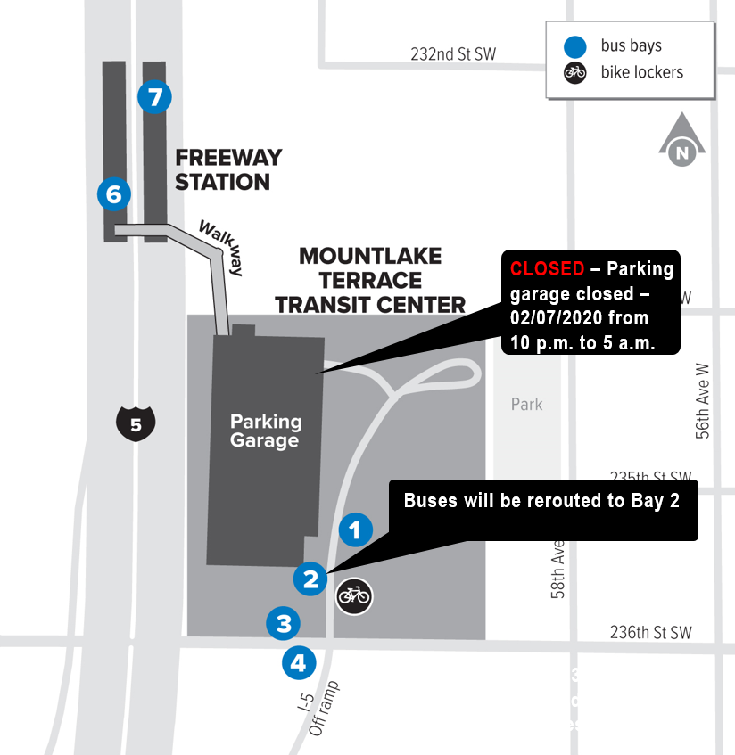 Overnight Parking Garage Closure At Mountlake Terrace