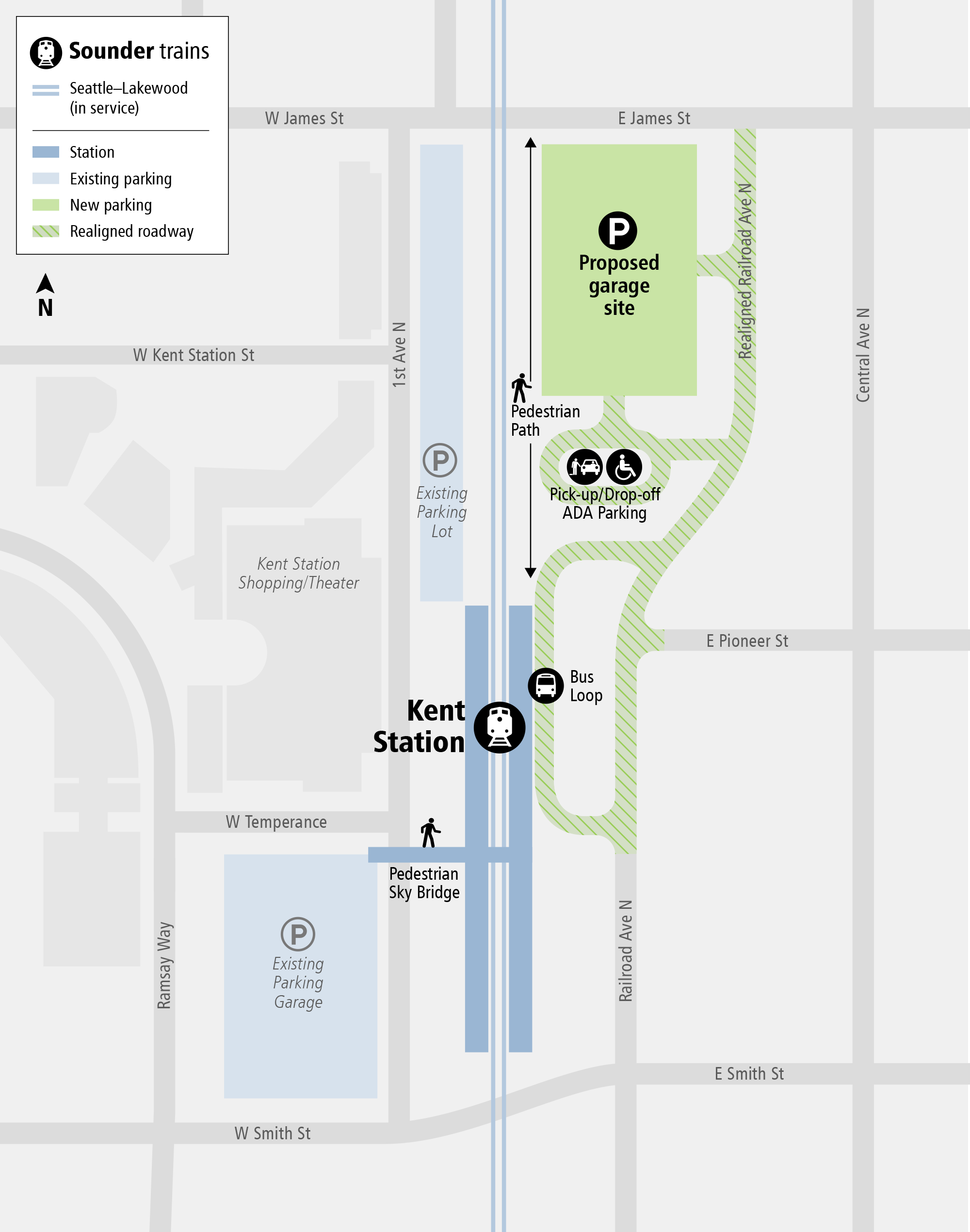 System Expansion web map for Kent Station Parking and Access Improvements