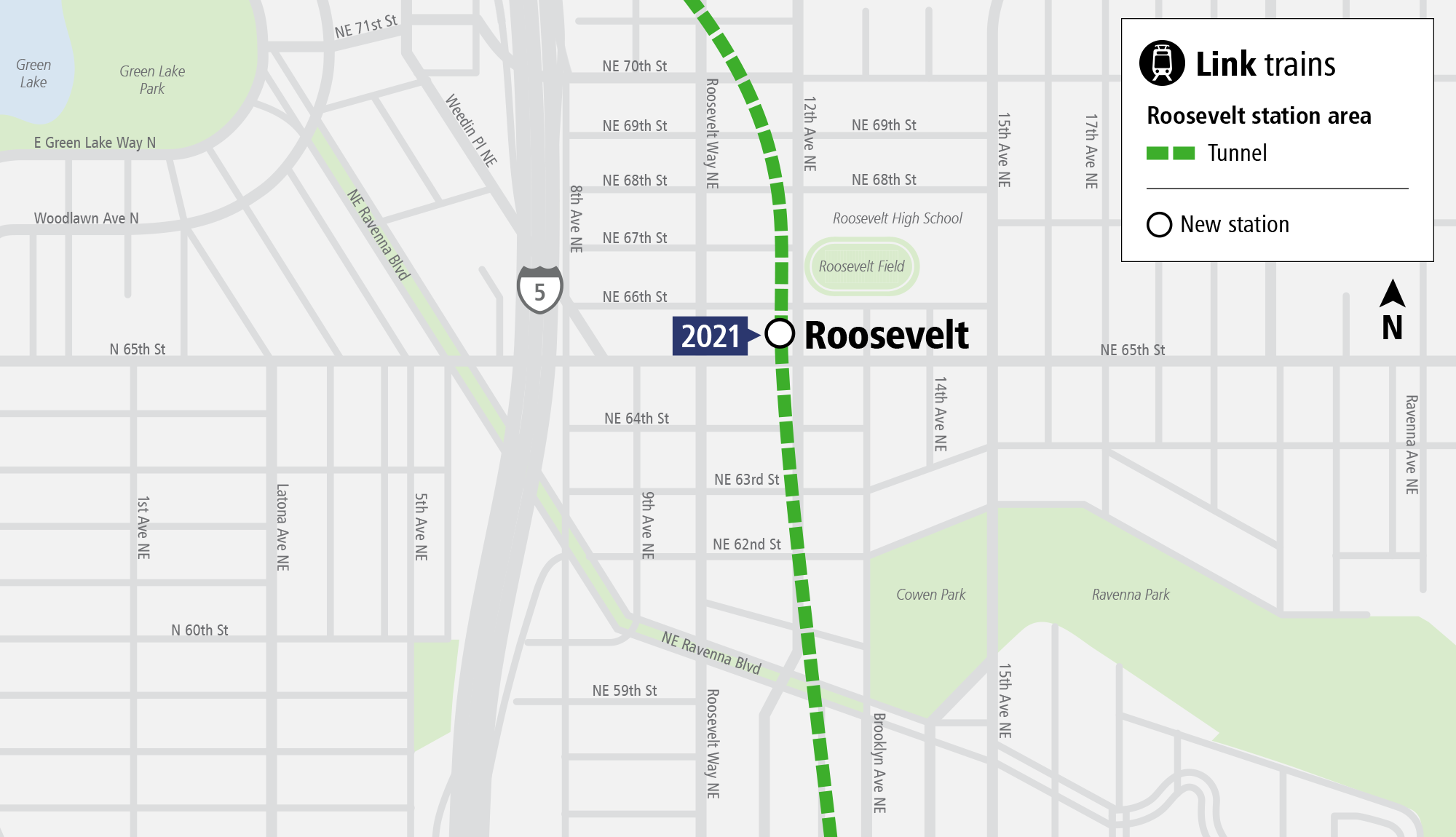 System Expansion web map for Roosevelt Station