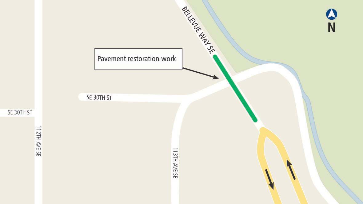 Puget Sound Energy will be performing pavement restoration work this weekend, July 9-10 on Bellevue Way SE in preparation for East Link light rail construction.