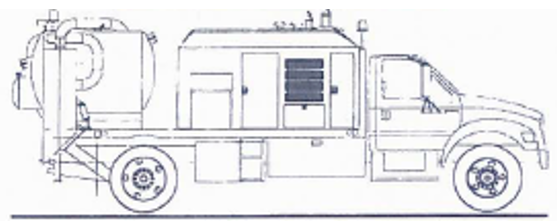 Illustrated example of a potholing vehicle.