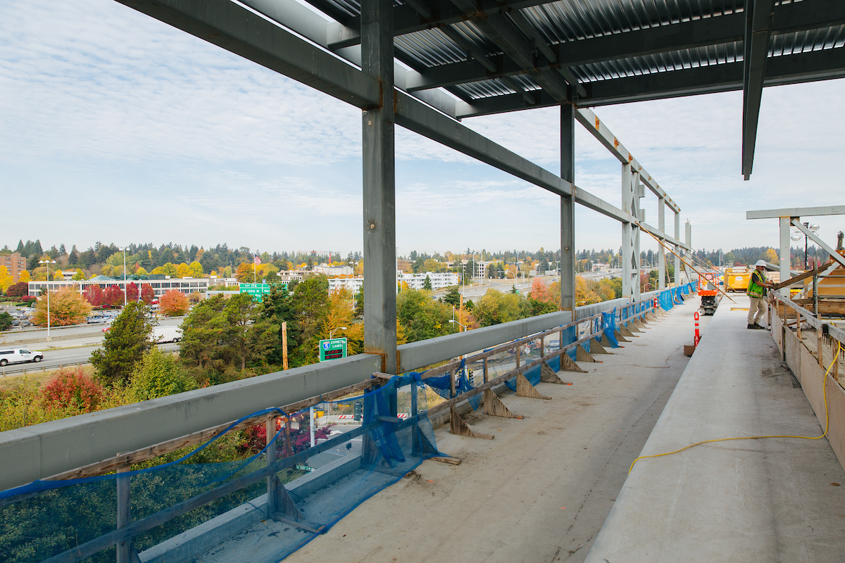 The view from the future Northgate Link light rail station