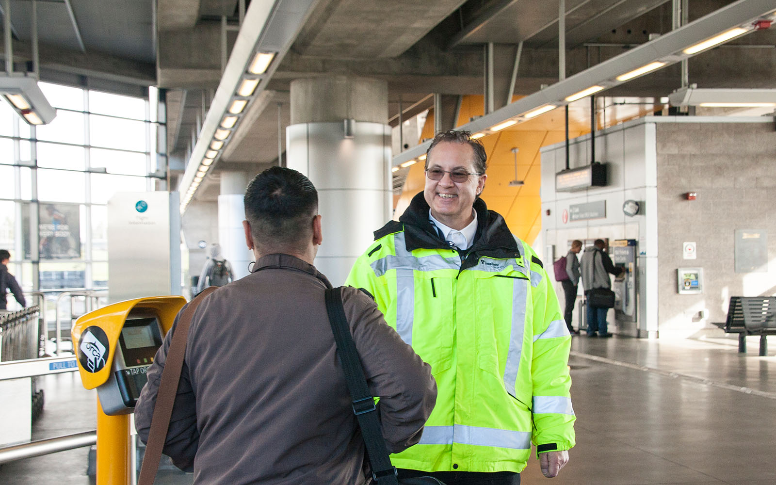 Sound Transit Station Agent helps travelers get from Sea-Tac Airport to Link light rail