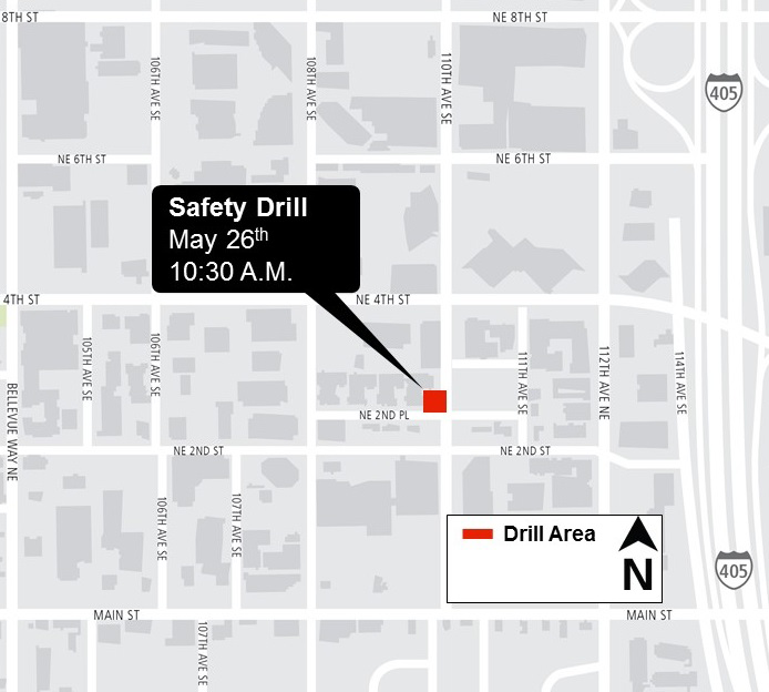 Map of fire drill location.