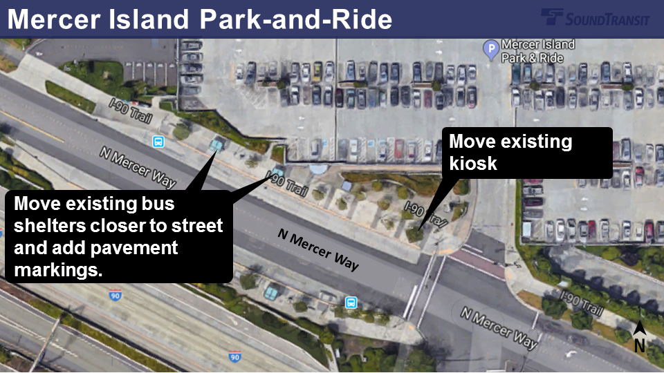 Mercer Island Park-and-Ride changes.