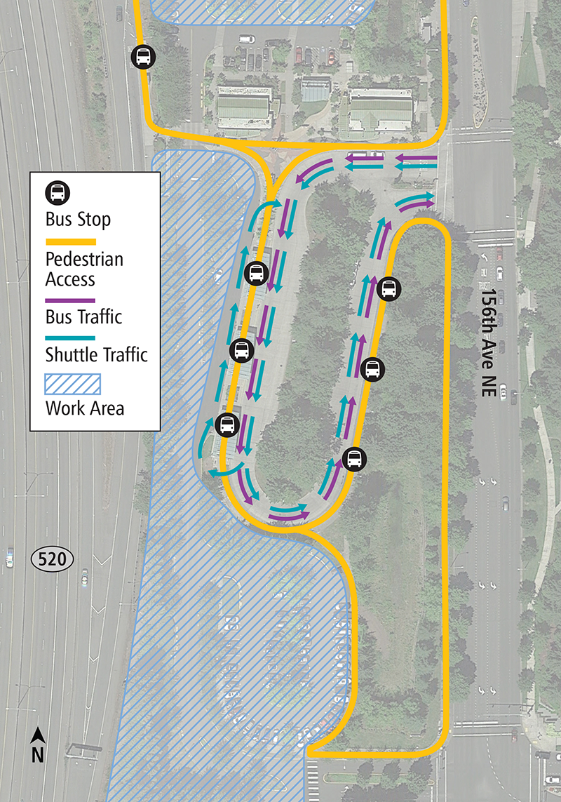 Overlake Transit Center construction map