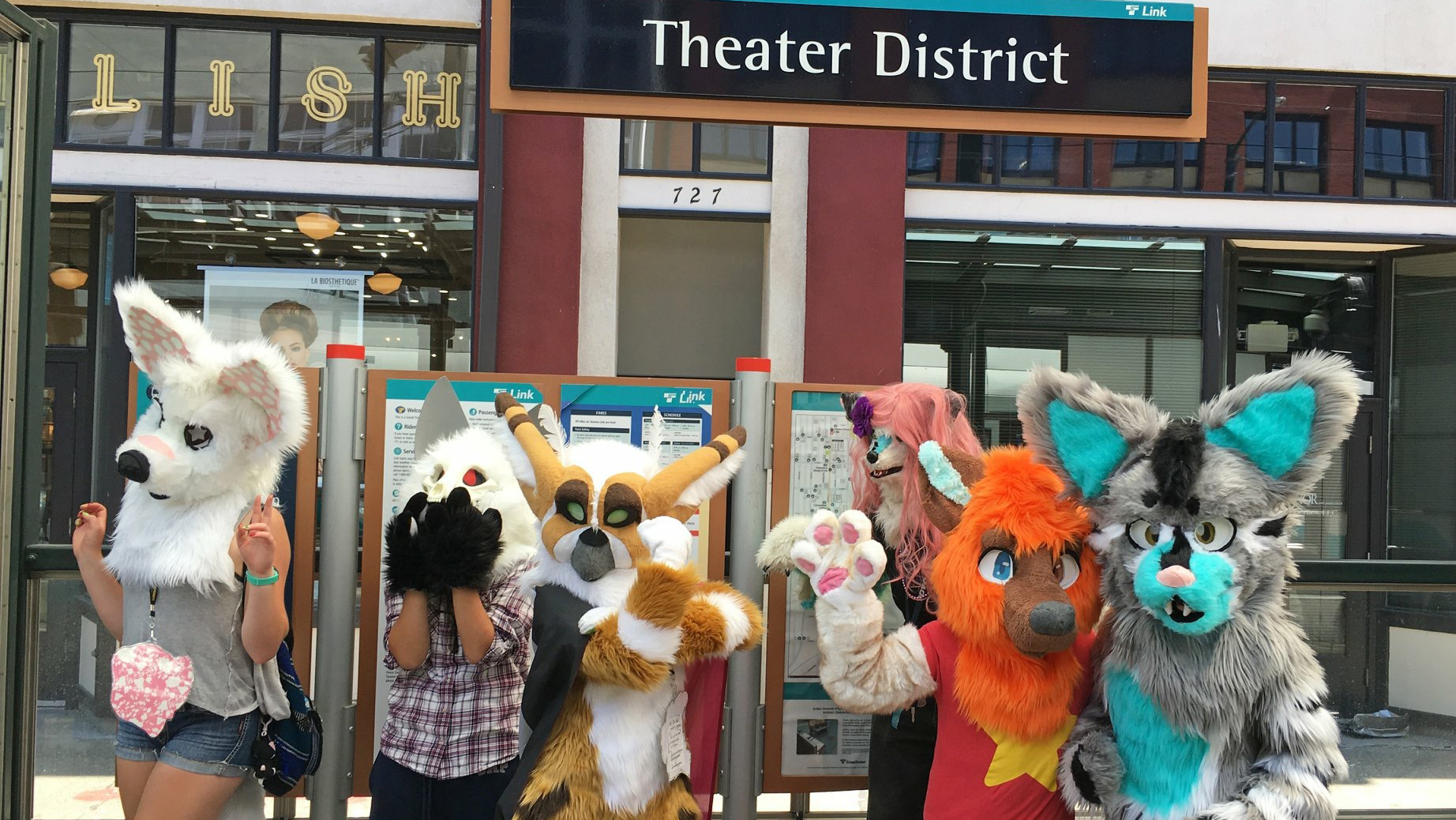 Riders in animal costumes at Tacoma Pride.