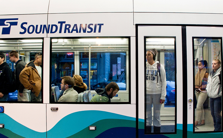 Riders on Tacoma Link.