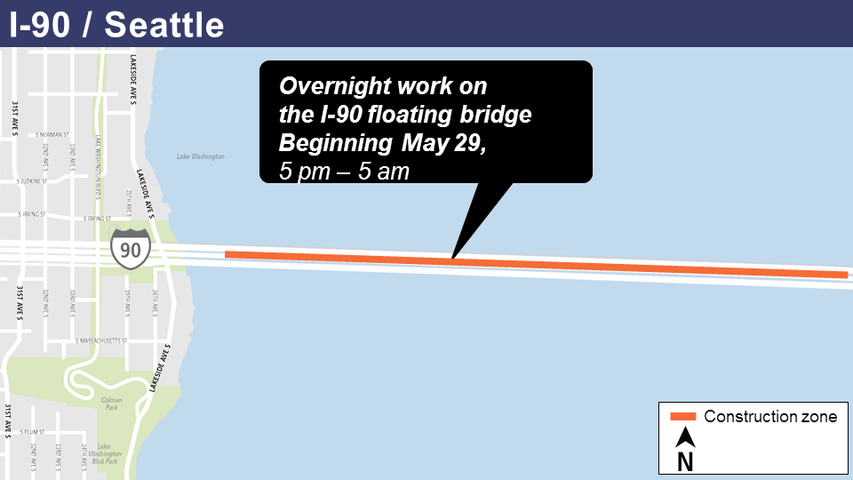 I 90 Nighttime Construction Begins As Early As May 29 Sound Transit