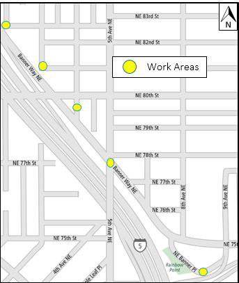 Map of work areas in Roosevelt.
