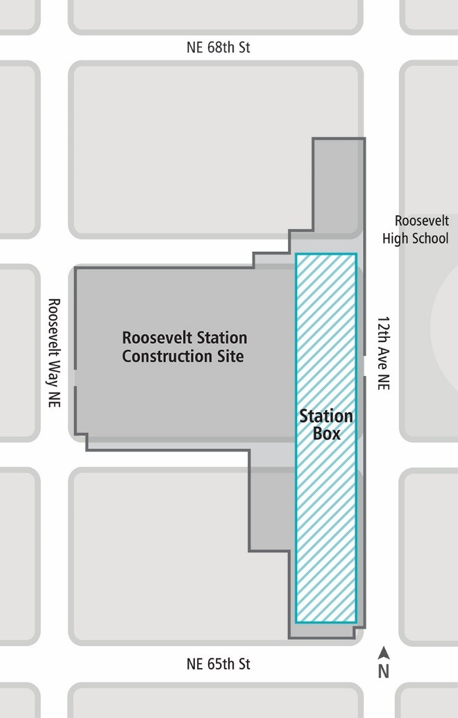 Diagram of Roosevelt Station construction site