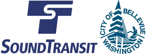 Sound Transit and City of Bellevue combined logo.
