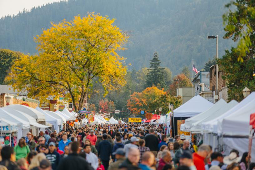 Downtown Issaquah during Salmon Days.