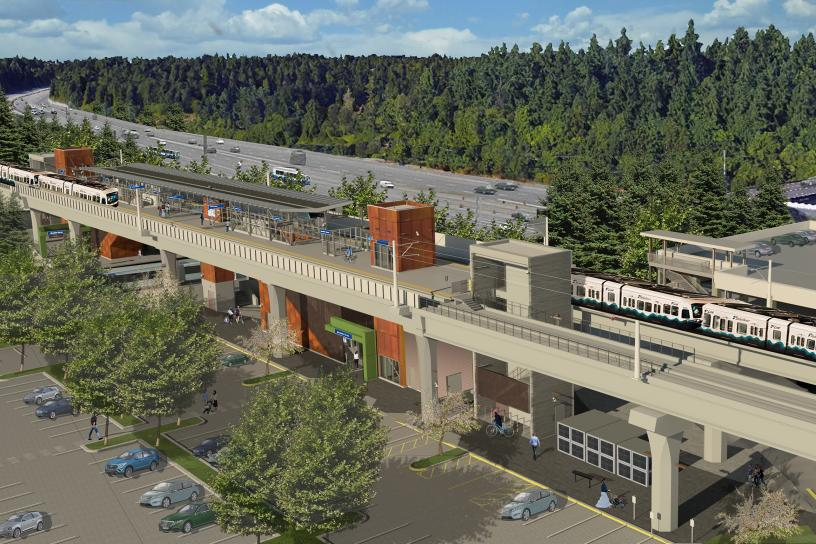 Rendering of Mountlake Terrace station
