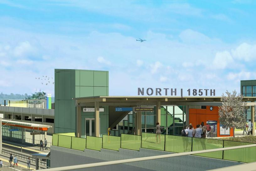 Rendering of Shoreline North/185th Station