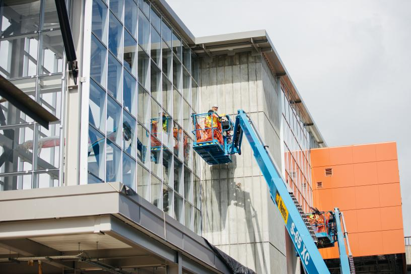 Photo of Mercer Island Glass curtain wall construction