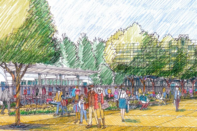Concept sketch for SE Redmond Station