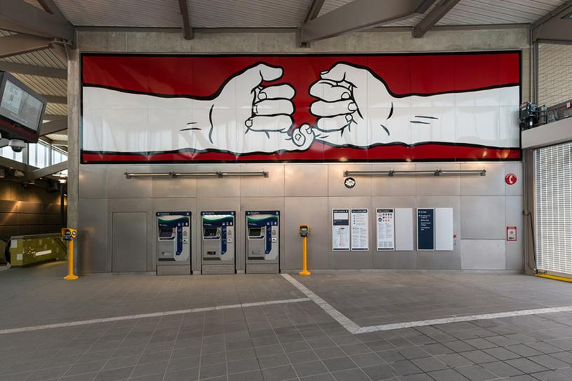 photo of station art: Crossed Pinkies @ Capitol Hill Station