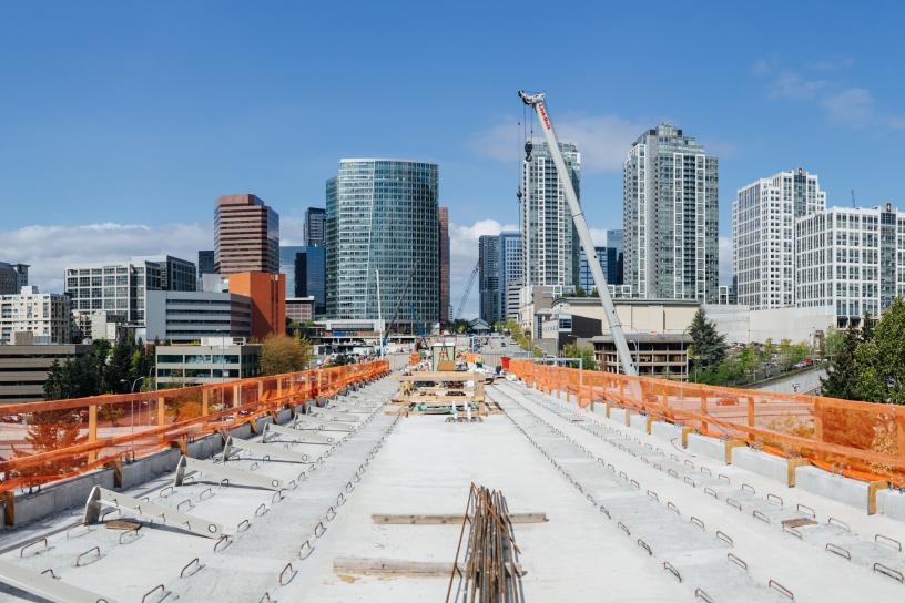 Photo of Bellevue Downtown Station Construction