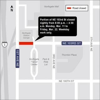 N160 Night time Closure 103rd St