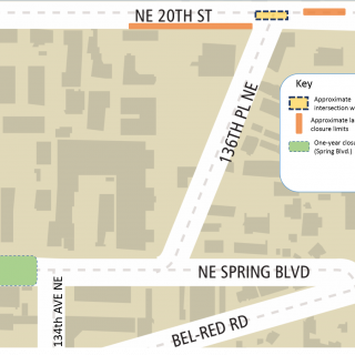 Map of NE 20th St work