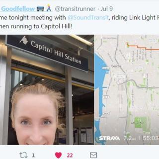 Combining transit and running lets Laura Goodfellow go farther