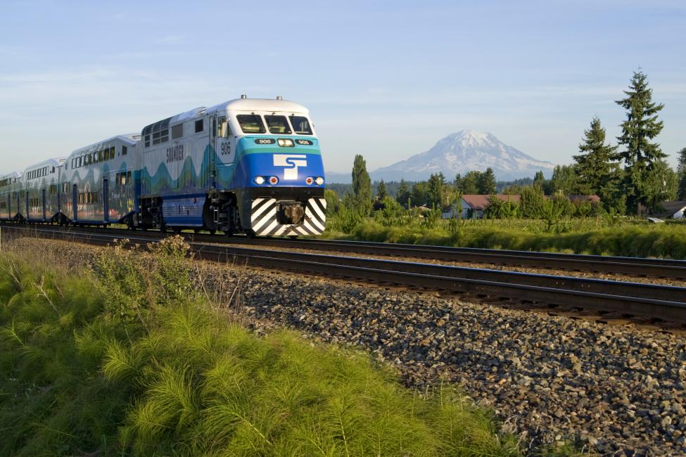 Sounder south on track