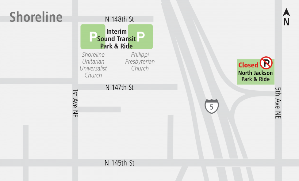 Shoreline Parking map