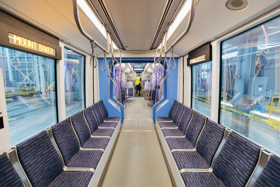 A look inside one of the new Link light rail vehicles