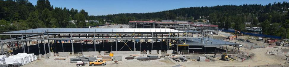 Panoramic shot of the future Operations and Maintenance Facility East.