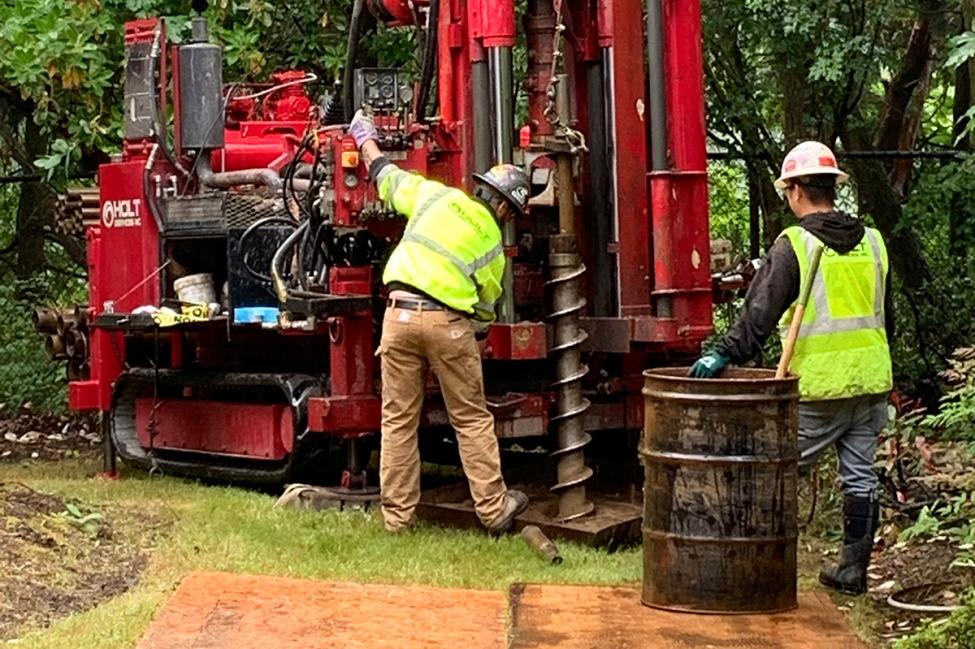 Kiewit conducts soil testing for the Federal Way Link Extension.