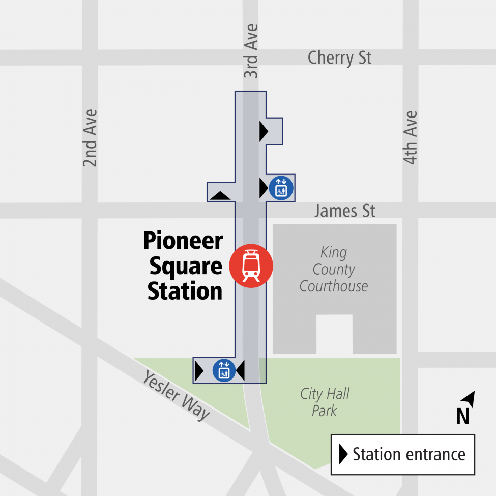 Pioneer Square Station entrance map
