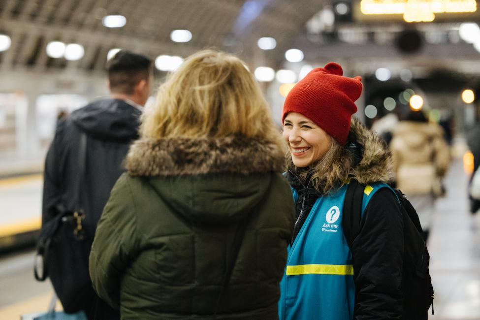 Sound Transit customer service ambassadors have staffed every Link station the first week of Connect 2020.