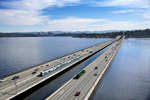 East link crossing lake washington