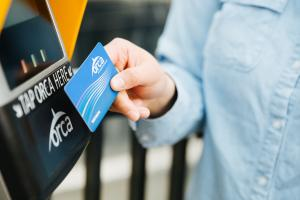 Tap your ORCA card on and off when riding Link light rail or Sounder Commuter rail