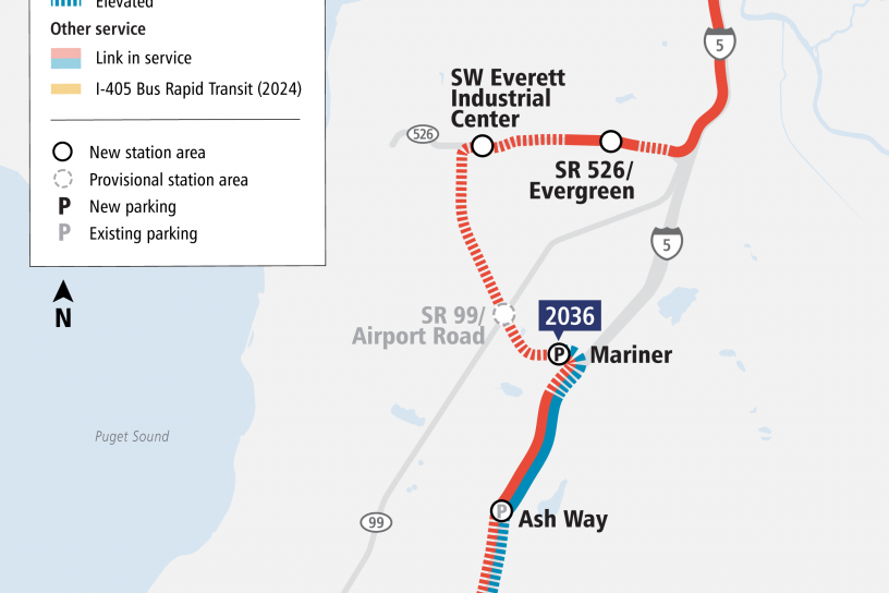 Everett Link Extension project map