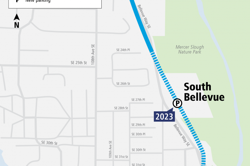 System Expansion web map for South Bellevue Station