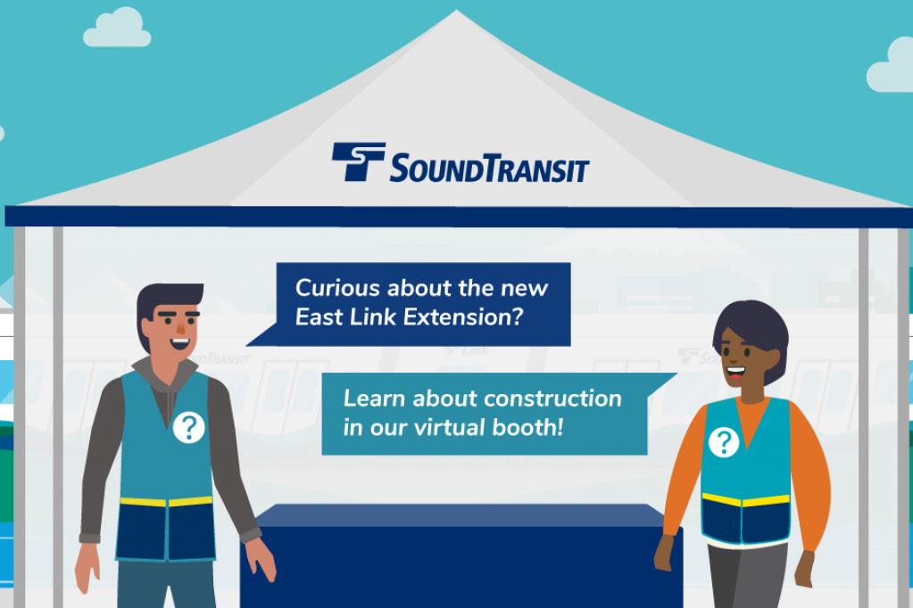 East Link Extension Virtual Booth graphic